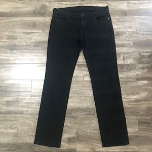 7 For all mankind mens black jeans